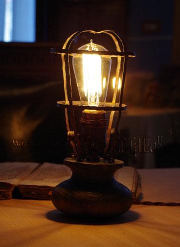 винтажный светильник из меди Лампа Эдисона своими руками