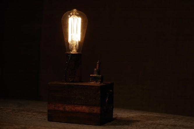 классический светильник из меди Лампа Эдисона своими руками